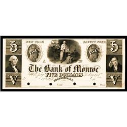 Bank of Monroe, ca.1830's Obsolete Proof.