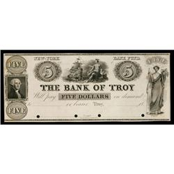 Bank of Troy ca.1830's Obsolete Proof.