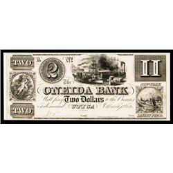 Oneida Bank, 1838 Obsolete Proof.