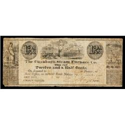 Cuyahoga Steam Furnace Co. Obsolete Scrip Note.