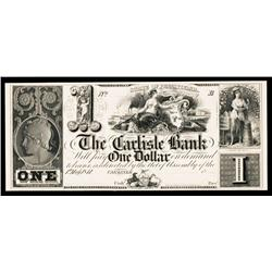 Carlisle Bank, 1841 Issue Obsolete Proof.
