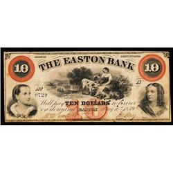 The Easton Bank Obsolete Banknote.