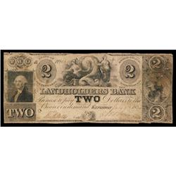 Landholders Bank Obsolete Banknote.