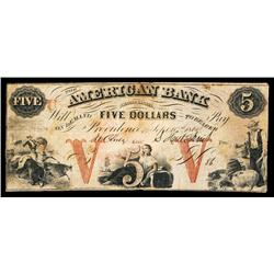 American Bank Obsolete Banknote.