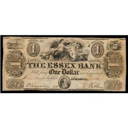 Essex Bank Obsolete Banknote.