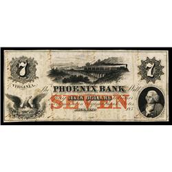 Phoenix Bank Obsolete Banknote.
