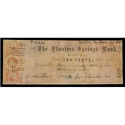 Planters Savings Bank Obsolete Banknote.