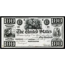 The United States, Act of 12.10.1837 Interest Bearing Proof Banknote.
