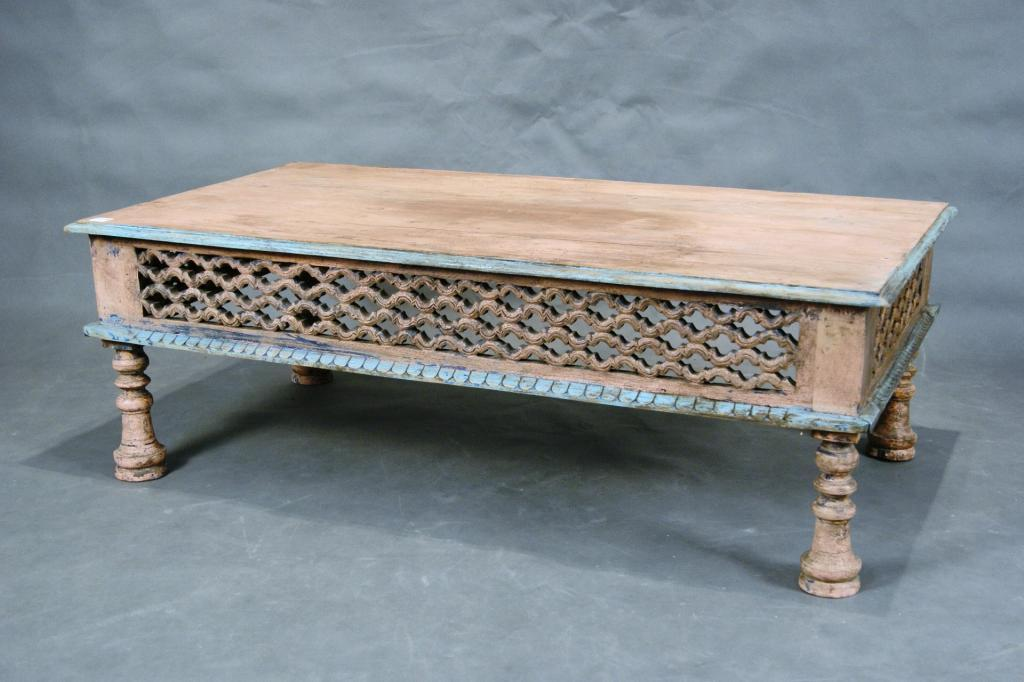 Fine Mexican Carved Coffee Table With Rustic Paint Bralicious Painted Fabric Chair Ideas Braliciousco