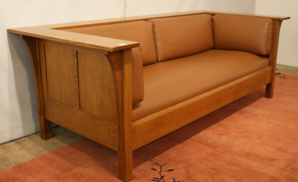 Strange Mission Stickley Leather Sofa Gmtry Best Dining Table And Chair Ideas Images Gmtryco