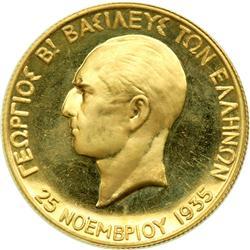 Greece. 100 Drachmai, 1935. NGC PF65