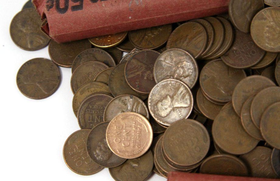 17 1 POUNDS OF UNSEARCHED WHEAT PENNIES SMALL CENT