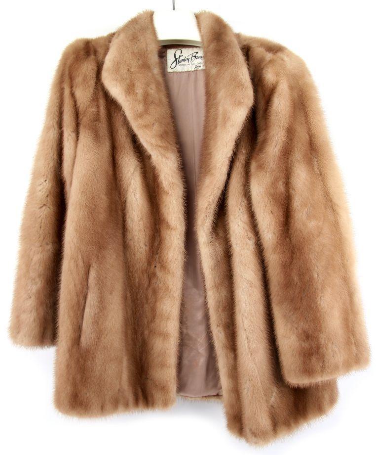 Mink Coat Value >> Vintage Mink Fur Coat Stanley Brown Collection