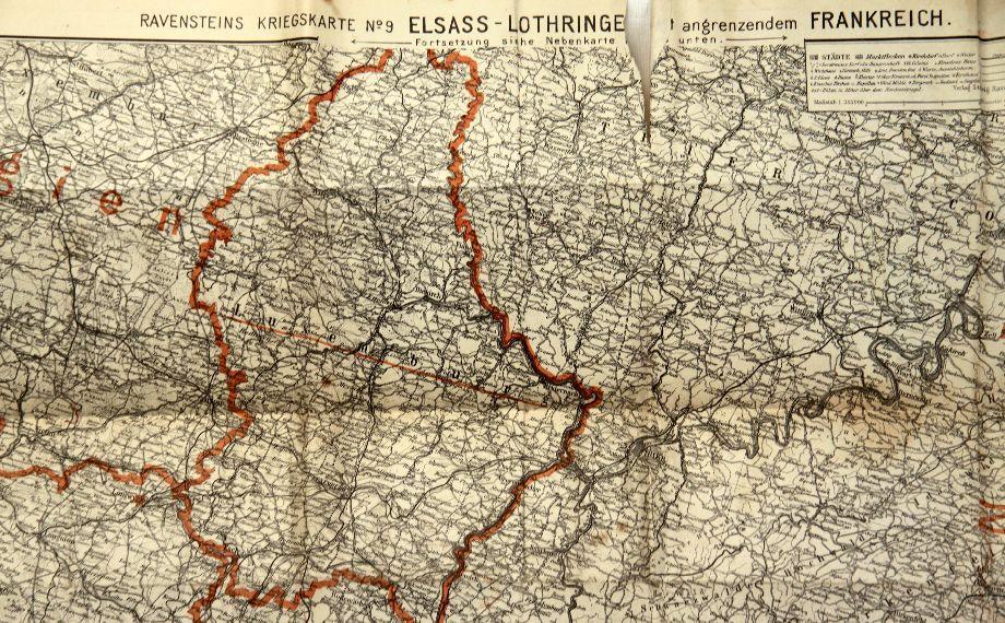 ALSACE - LORRAINE REGION PRE WWI MAP