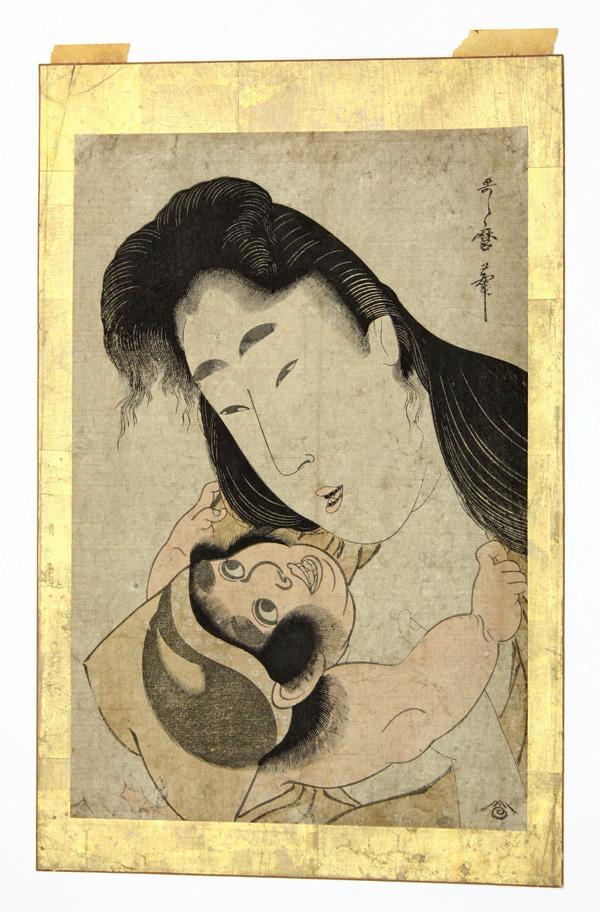 Japanese Woodblock Print, Utamaro