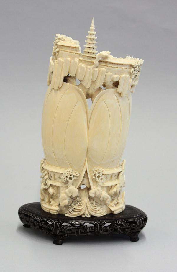 ea9f4a66338fe0 ... Image 3   Chinese Ivory Carving