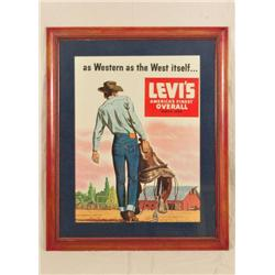 Levi's Jeans Advertising Poster