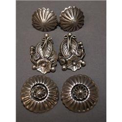 3 PAIR OF NAVAJO EARRINGS