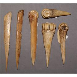 COLLECTION OF BONE AWLS