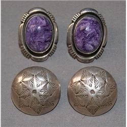 2 PAIR OF NAVAJO EARRINGS
