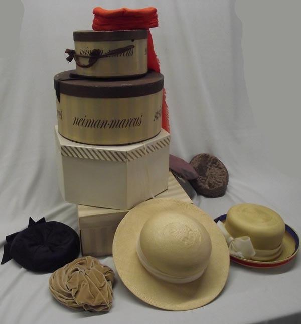 36d8a81c73dba Image 1   4 Neiman Marcus Hat Boxes and Vintage Hats ...