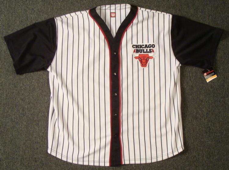 best sneakers 3e48a 8e721 Chicago Bulls Baseball Style WarmUp Jersey XXL Like New