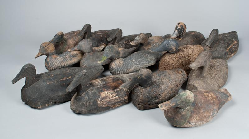 15 Antique Wood Duck Decoys