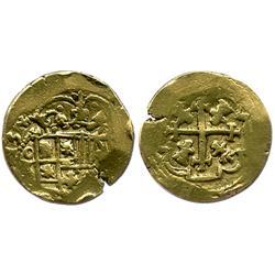 Mexico City, Mexico, cob 4 escudos, Philip V, (17)13(J), from the 1715 Fleet.
