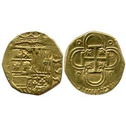 Seville, Spain, cob 2 escudos, 1595(B).