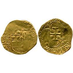Seville, Spain, cob 2 escudos, 1597B.