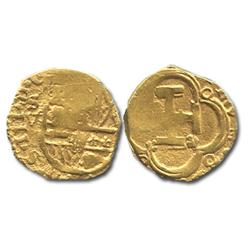 Seville, Spain, cob 2 escudos, Philip III, assayer V.