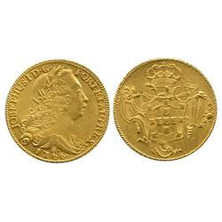 Brazil (Rio mint), 6400 reis, Joseph I, 1766-R.