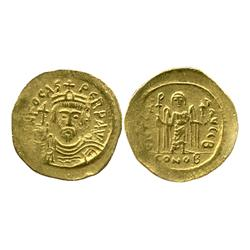 Byzantine Empire, Constantinople mint, gold solidus, Phocas, 602-610 AD.