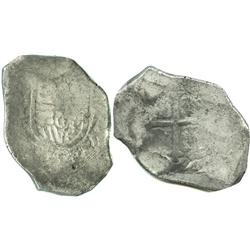 Mexico City, Mexico, cob 8 reales, Charles II, assayer L.