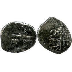 Lima, Peru, cob 2 reales, 1732(N).