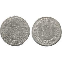 Mexico City, Mexico, pillar 1 real, Charles III, 1765M.