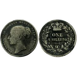 Great Britain, shilling, Victoria, 1862, better date.