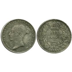 Great Britain, sixpence, Victoria, 1846.