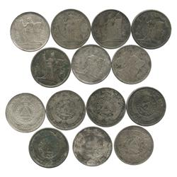 Lot of 7 Honduras 1 pesos, various dates (1887-1896).