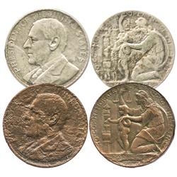 Lot of two Philippines  Wilson dollar  medals, 1920, one in silver and the other in bronze.