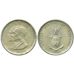 Philippines, peso, 1936, Murphy and Quezon, possible contemporary forgery.
