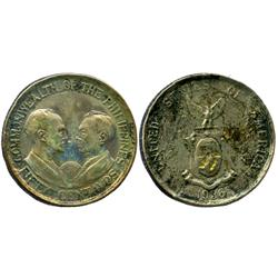 Philippines, 50 centavos, 1936, Murphy and Quezon.