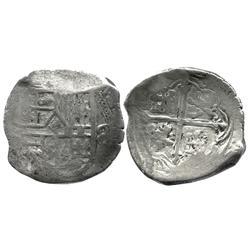 Mexico City, Mexico, cob 8 reales, assayer not visible, Royal-border variety of 1618-32.