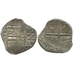 Valladolid, Spain, cob 2 reales, Philip III, assayer oD (1599).