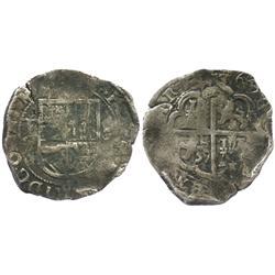 Toledo, Spain, cob 2 reales, 1603C.