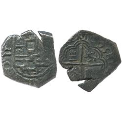 Granada, Spain, cob 2 reales, 1605(M).