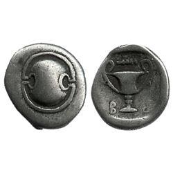 BOEOTIA, Thebes, Federal Coinage, AR hemidrachm, 395-340 BC.