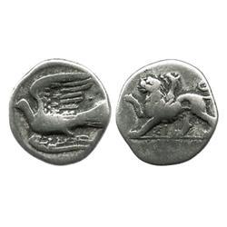 SIKYONIA, Sikyon, AR hemidrachm, 360-330 BC.