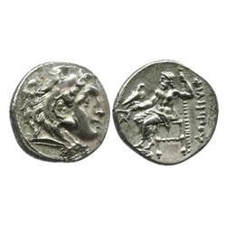 KINGS of MACEDON, AR drachm, Alexander III (the Great, 336-323 BC), early posthumous issue under Phi