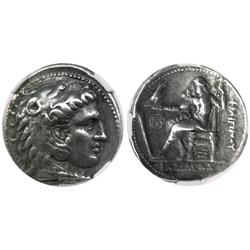 KINGS of MACEDON, AR tetradrachm, Philip III, 323-317 BC, Aradus mint, encapsulated NGC Ch VF strike